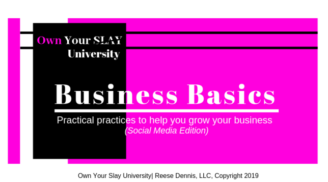 Business Basics Webinar